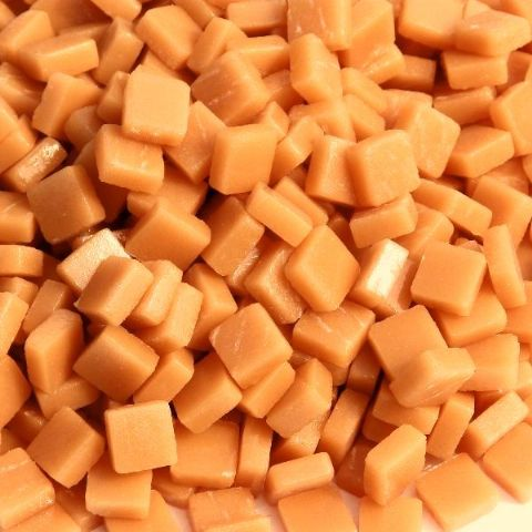 8mm Square Tiles - Butterscotch Matte - 50g